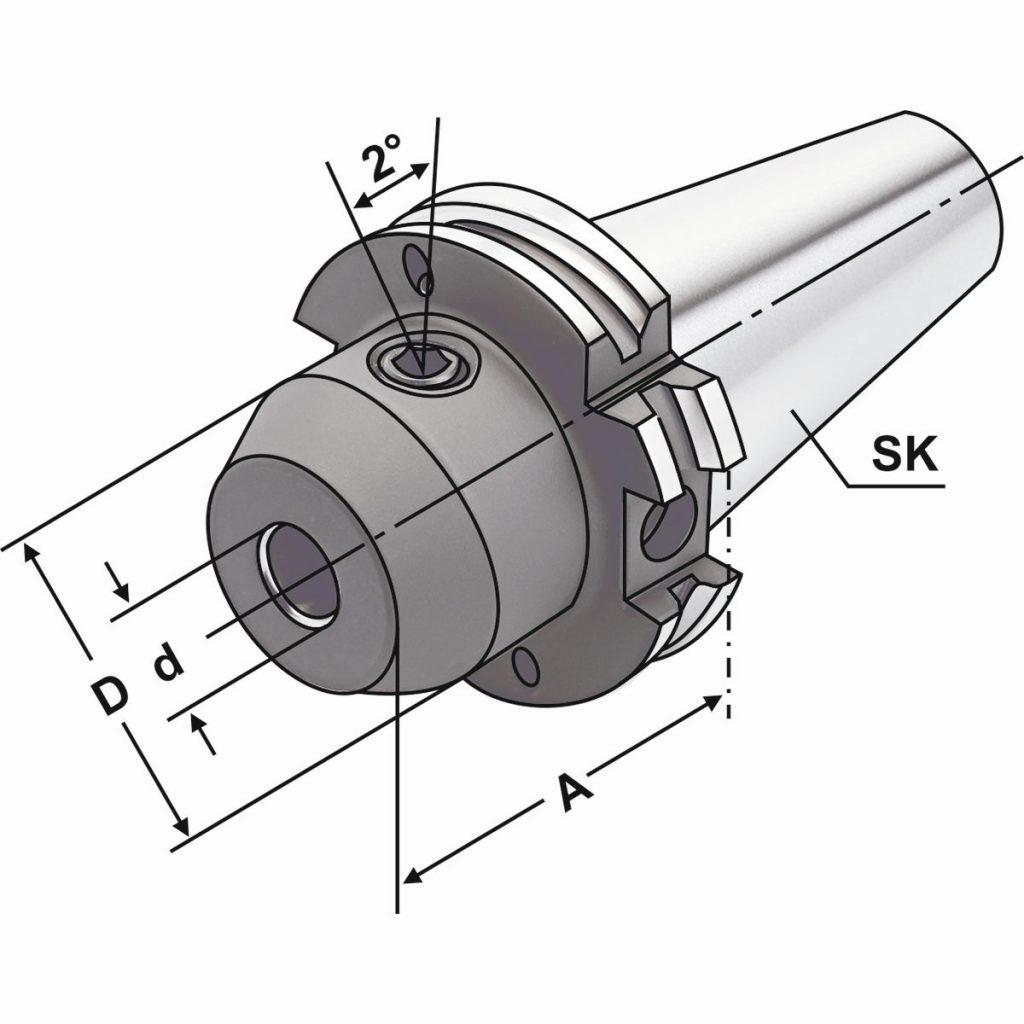 Fräseraufnahme SK40/WN